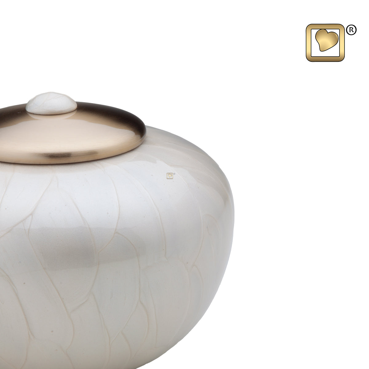 Adult Round Simplicity Pearl Cremation Urn
