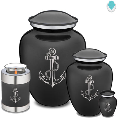 Adult Charcoal Embrace Anchor Cremation Urn