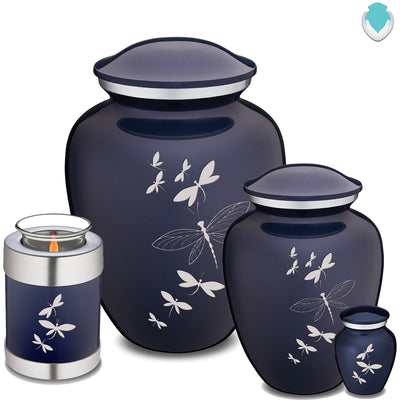 Adult Embrace Cobalt Blue Dragonflies Cremation Urn
