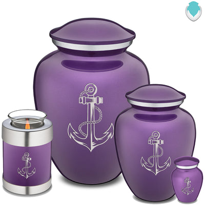 Medium Purple Embrace Anchor Cremation Urn