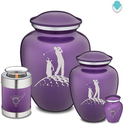 Keepsake Purple Embrace Golfer Cremation Urn
