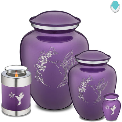 Adult Embrace Purple Hummingbird Cremation Urn