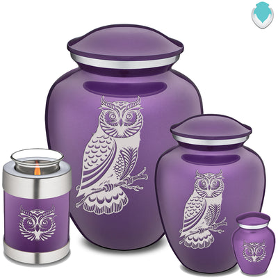 Adult Embrace Purple Owl Cremation Urn