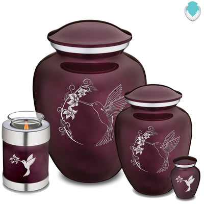 Adult Embrace Cherry Purple Hummingbird Cremation Urn