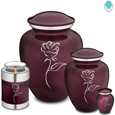 Adult Embrace Cherry Purple Rose Cremation Urn