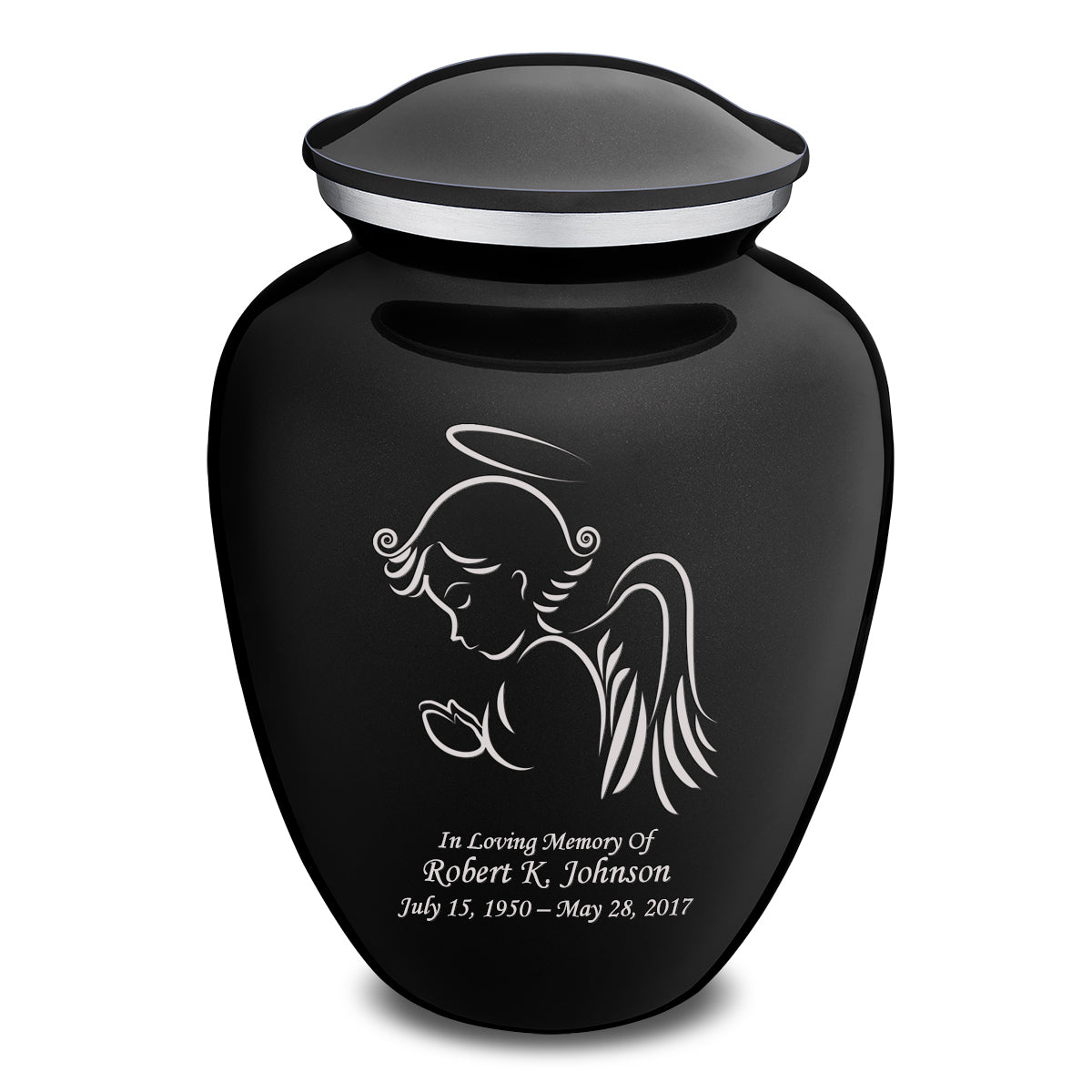 Adult Embrace Black Angel Cremation Urn