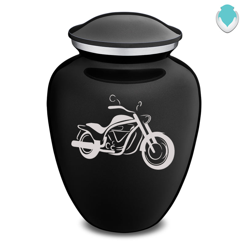 Adult Embrace Black Motorcycle Cremation Urn