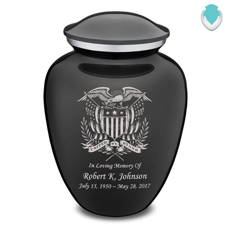Adult Embrace Charcoal American Glory Cremation Urn