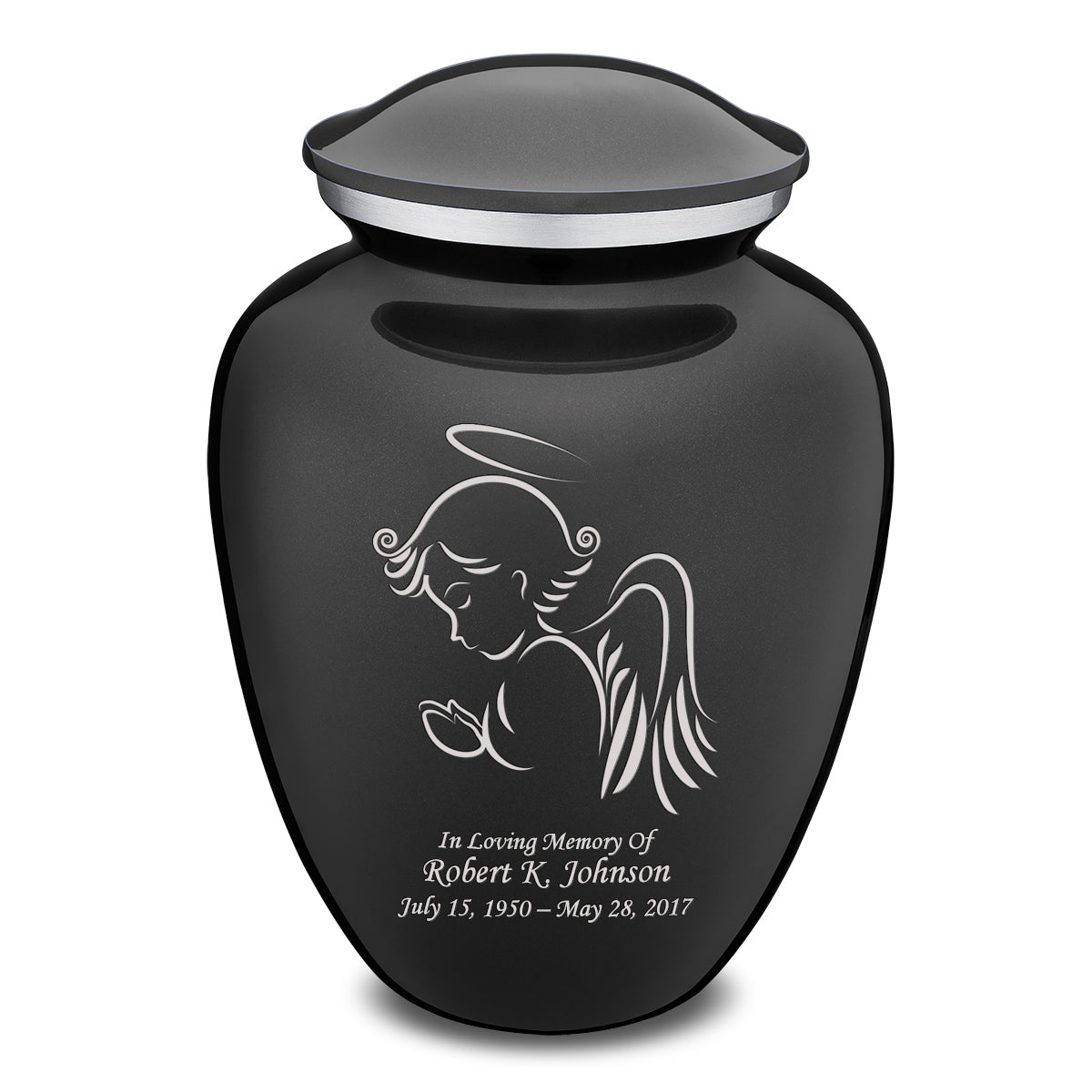Adult Charcoal Embrace Angel Cremation Urn