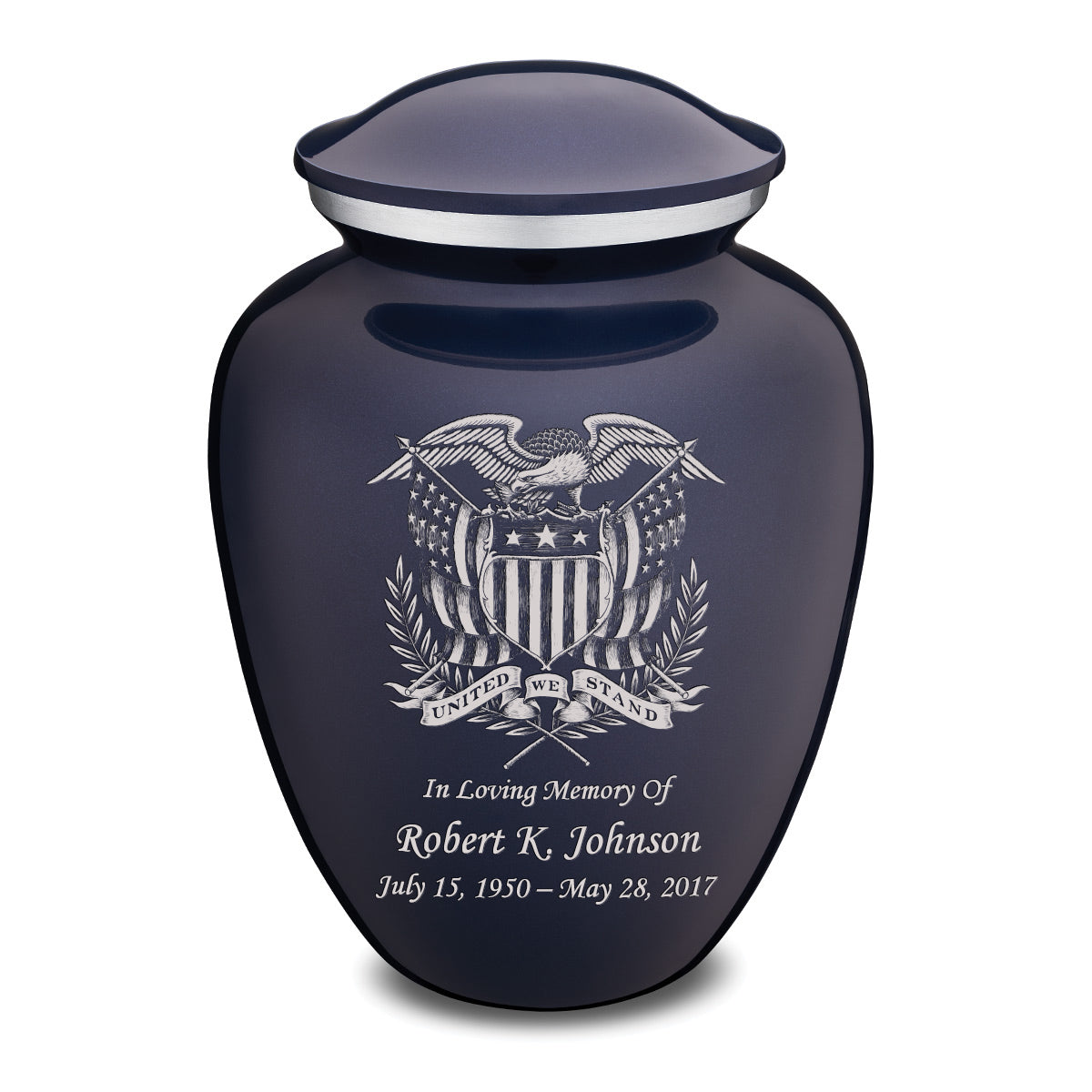 Adult Embrace Cobalt Blue American Glory Cremation Urn