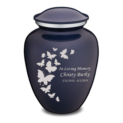 Adult Embrace Butterfly Cremation Urn Cobalt