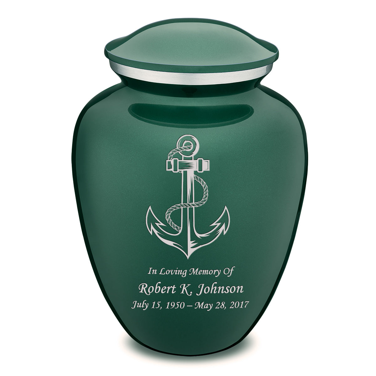 Adult Green Embrace Anchor Cremation Urn