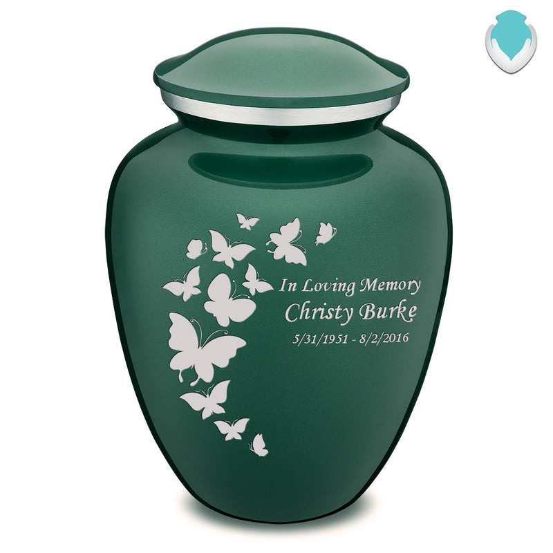 Adult Embrace Green Butterfly Cremation Urn