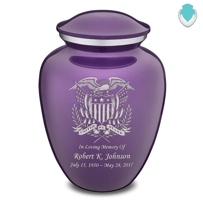 Adult Embrace Purple American Glory Cremation Urn