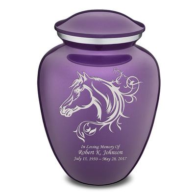 Adult Embrace Purple Horse Cremation Urn