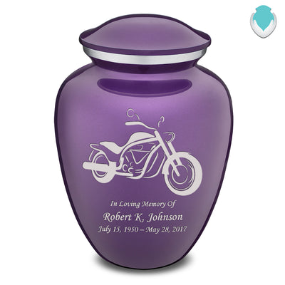 Adult Embrace Purple Motorcycle Cremation Urn