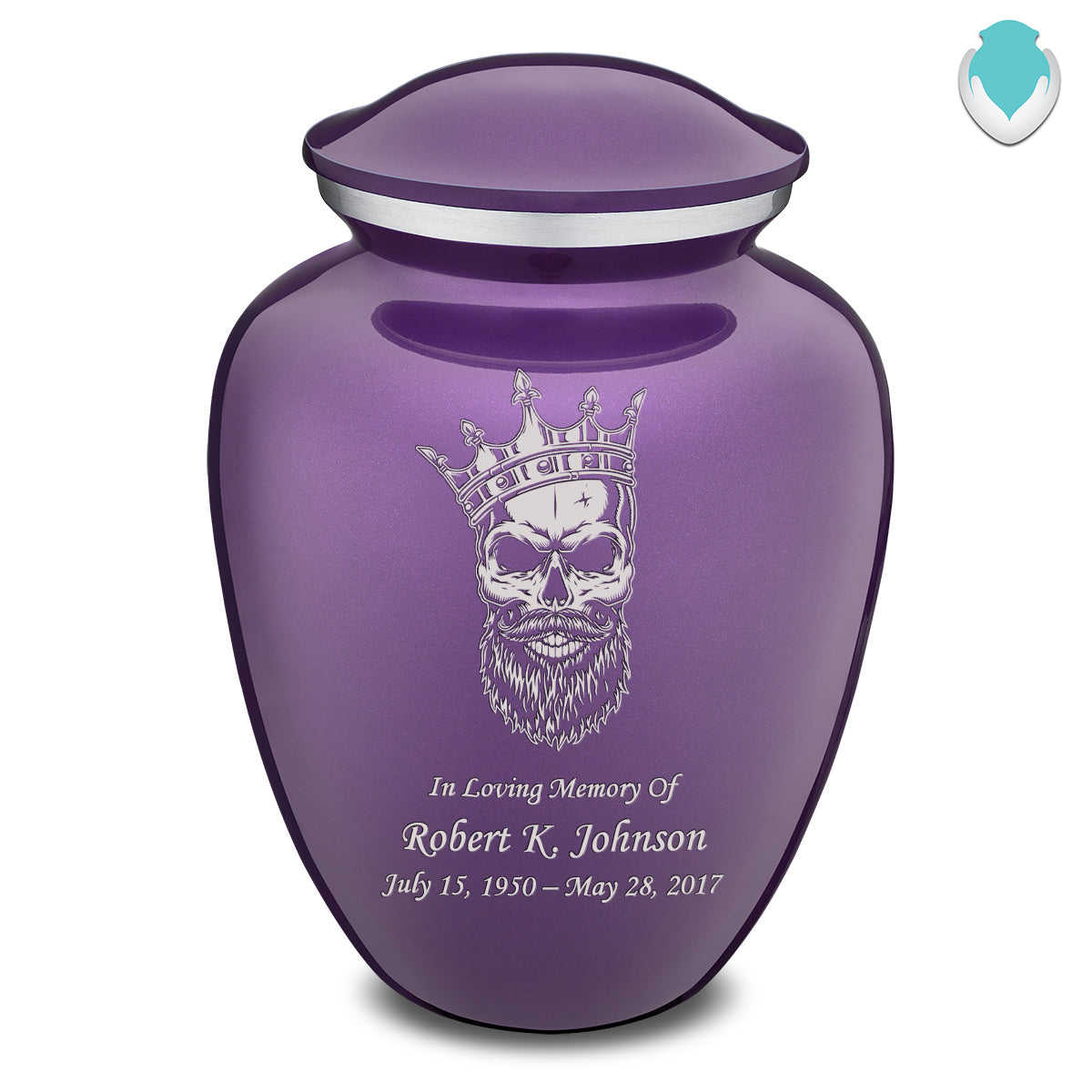 Adult Embrace Purple Skull Cremation Urn