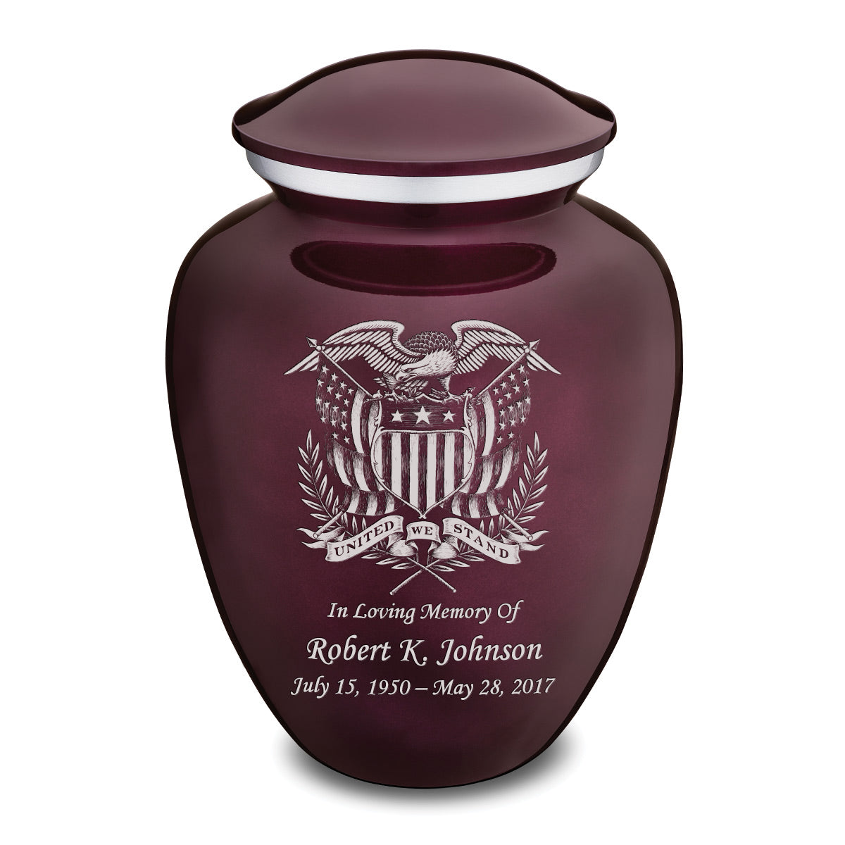 Adult Embrace Cherry Purple American Glory Cremation Urn