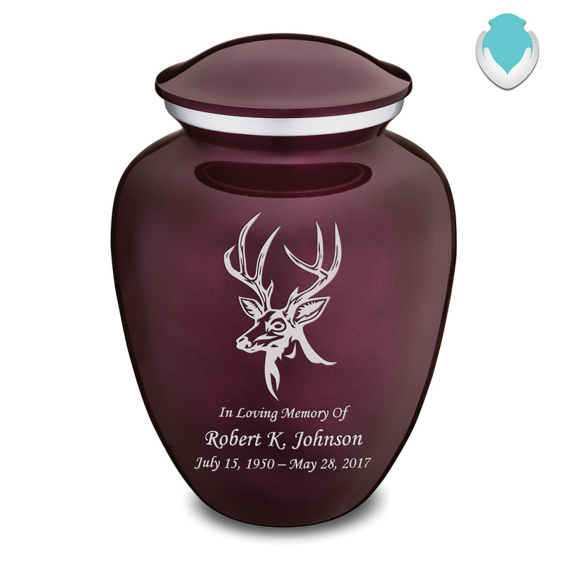 Adult Embrace Cherry Purple Deer Cremation Urn