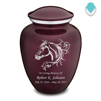 Adult Embrace Cherry Purple Horse Cremation Urn
