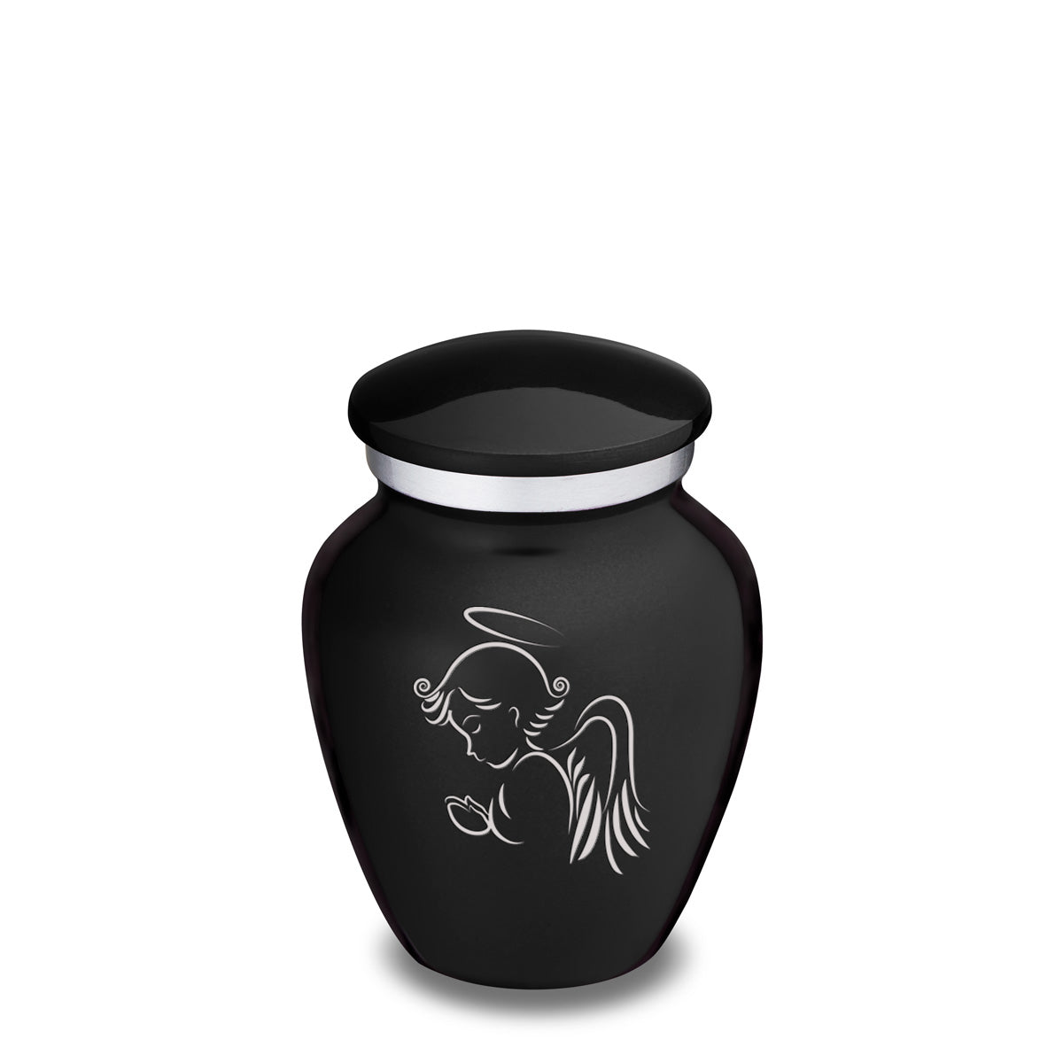 Keepsake Black Embrace Angel Cremation Urn