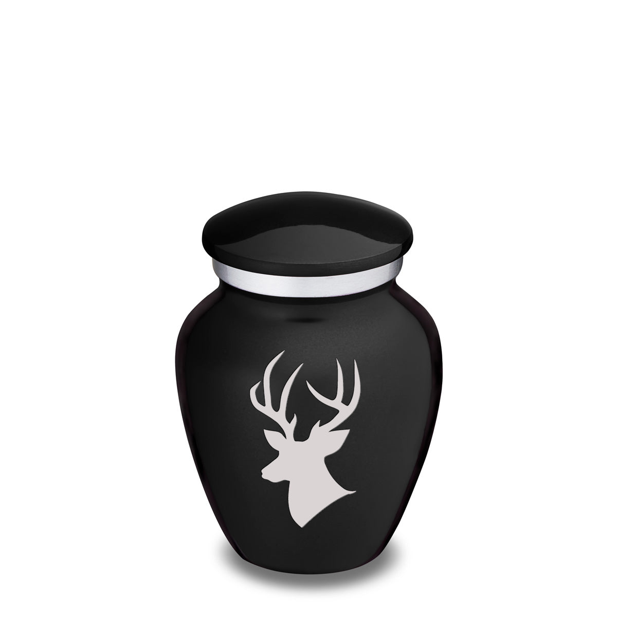 Keepsake Embrace Black Deer Cremation Urn