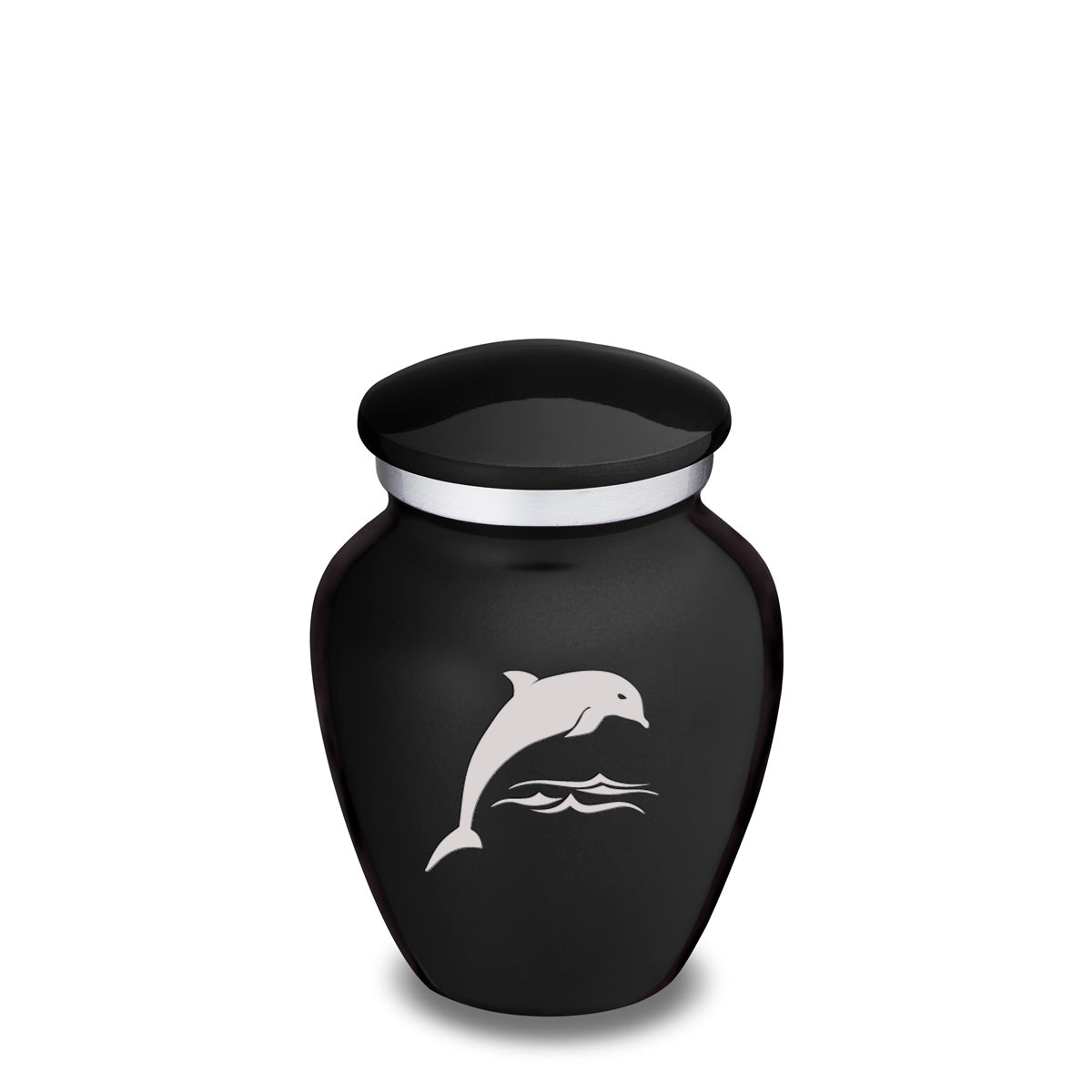 Keepsake Black Embrace Dolphin Cremation Urn