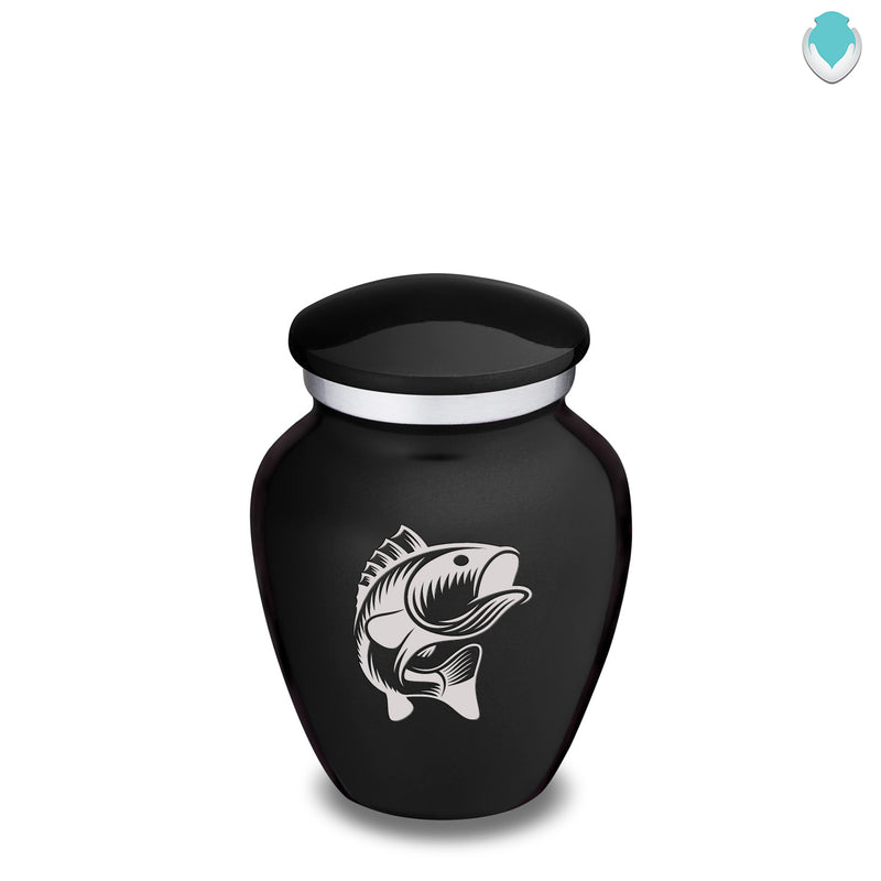 Keepsake Embrace Black Fish Cremation Urn