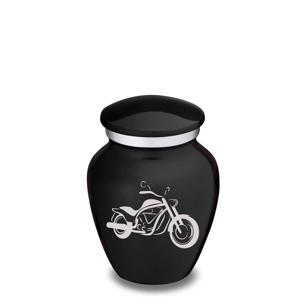 Keepsake Embrace Black Motorcycle Cremation Urn