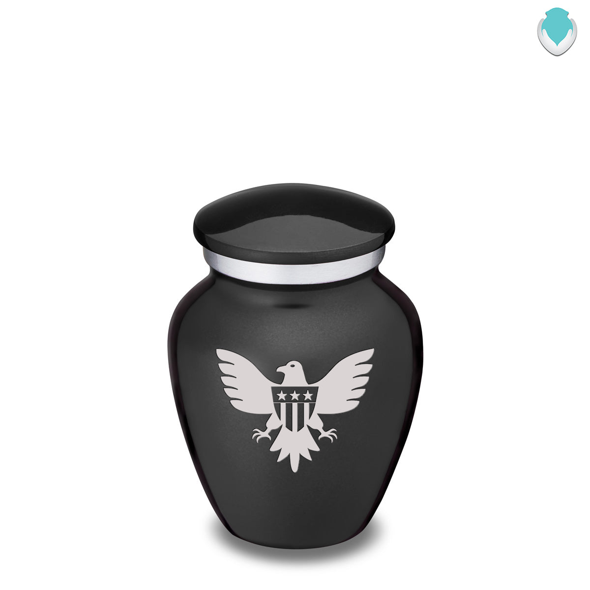Keepsake Embrace Charcoal American Glory Cremation Urn