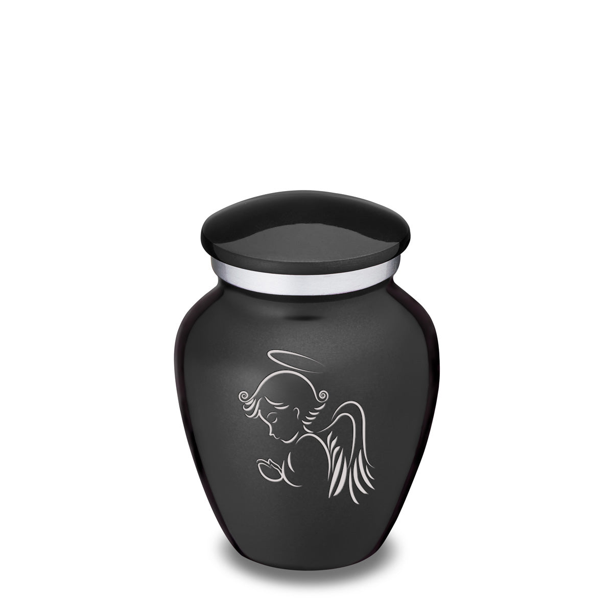 Keepsake Charcoal Embrace Angel Cremation Urn