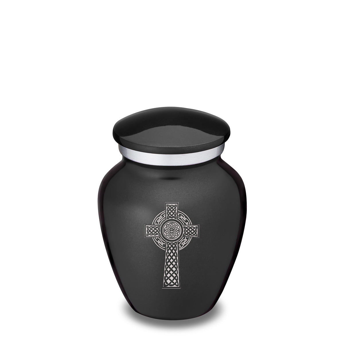 Keepsake Embrace Charcoal Celtic Cross Cremation Urn