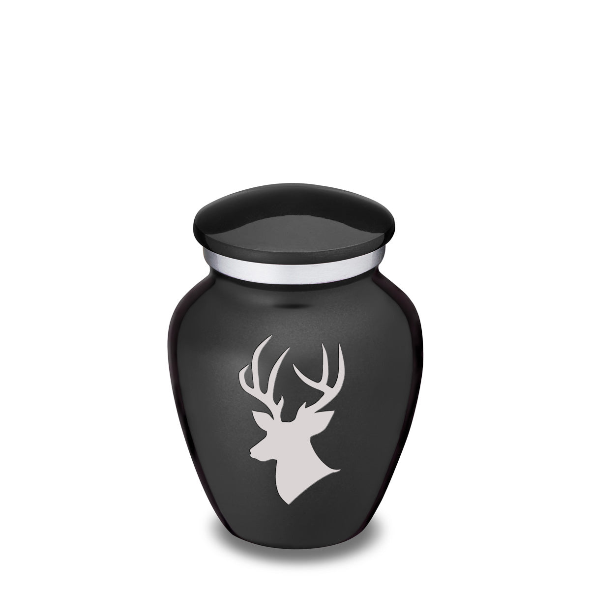 Keepsake Embrace Charcoal Deer Cremation Urn