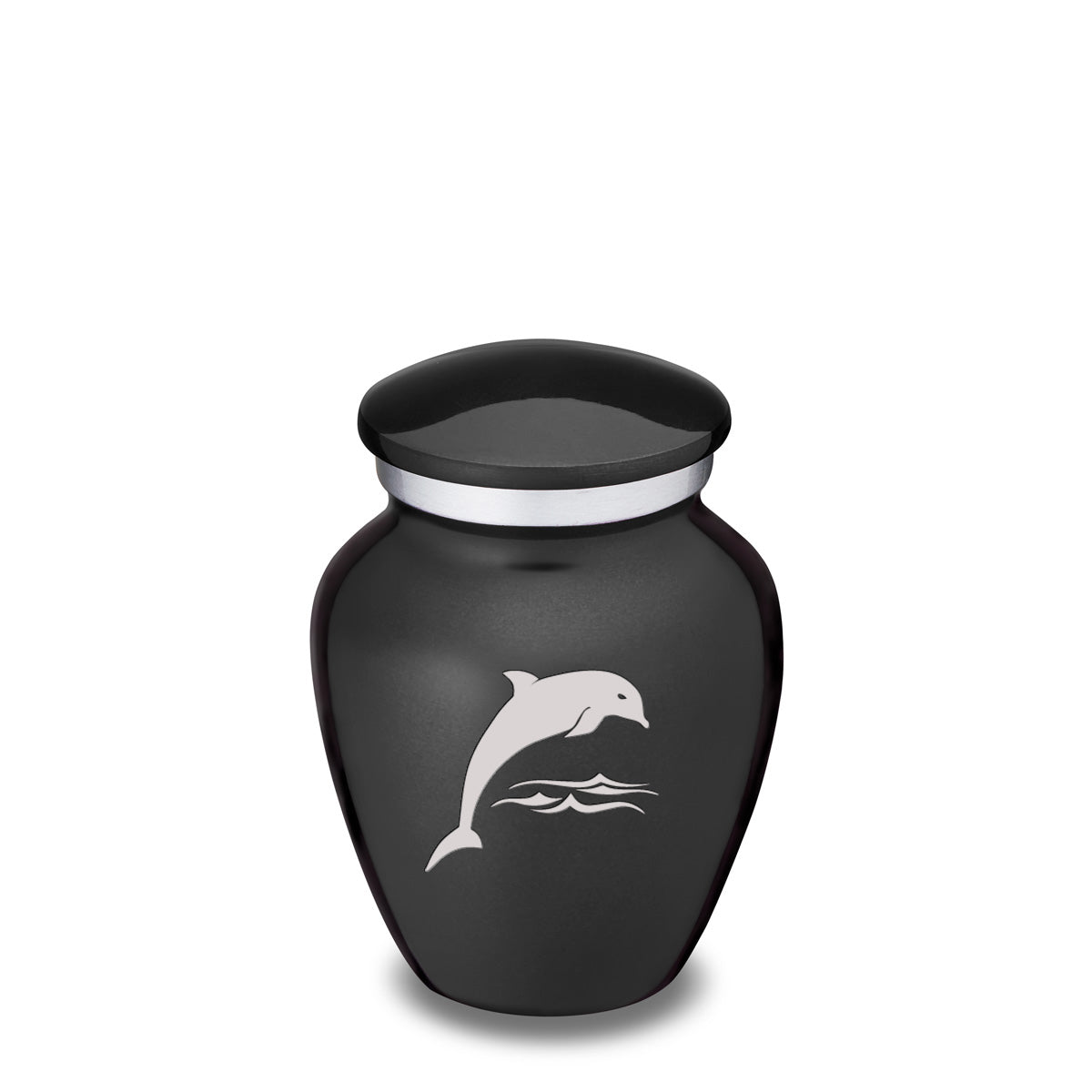 Keepsake Charcoal Embrace Dolphin Cremation Urn