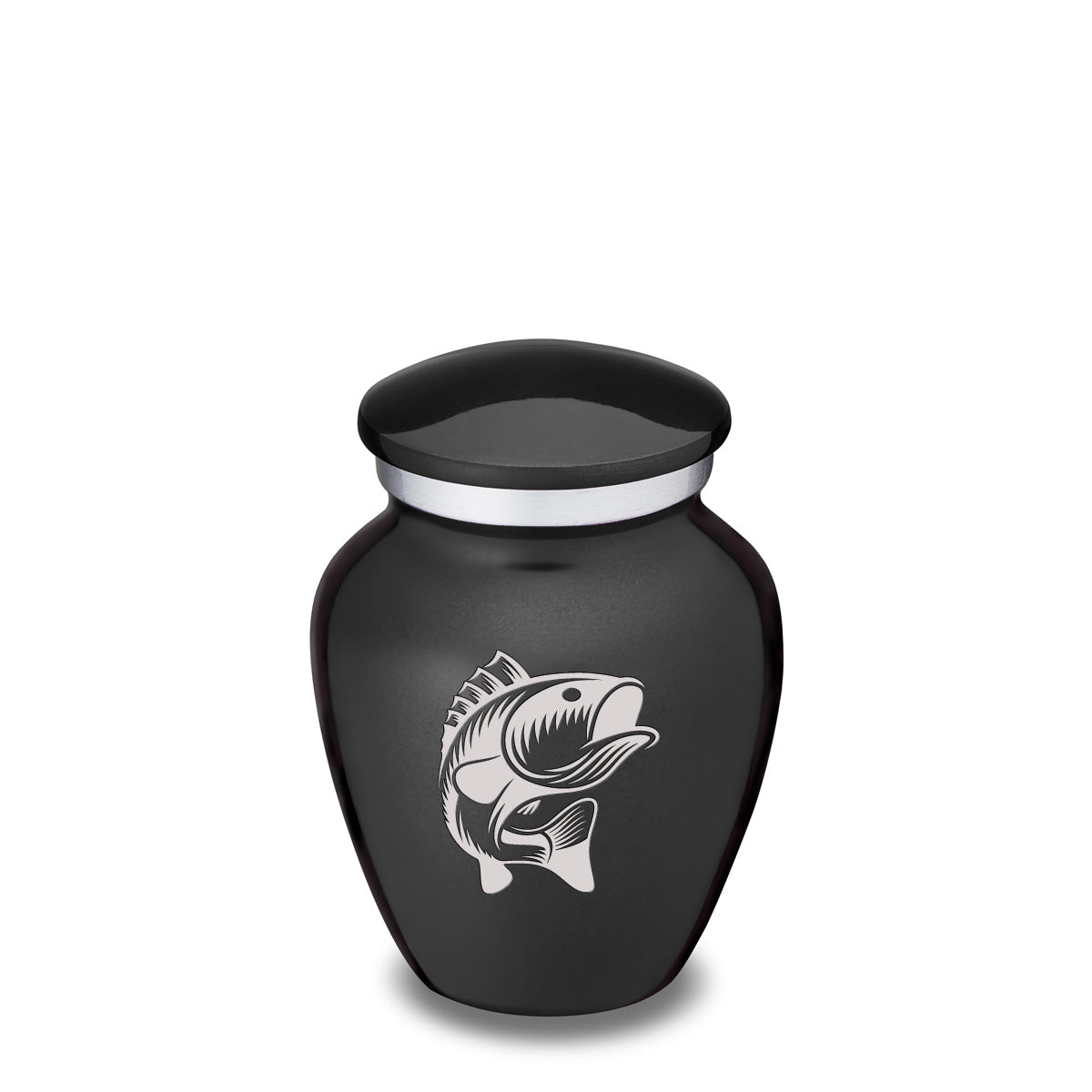Keepsake Embrace Charcoal Fish Cremation Urn