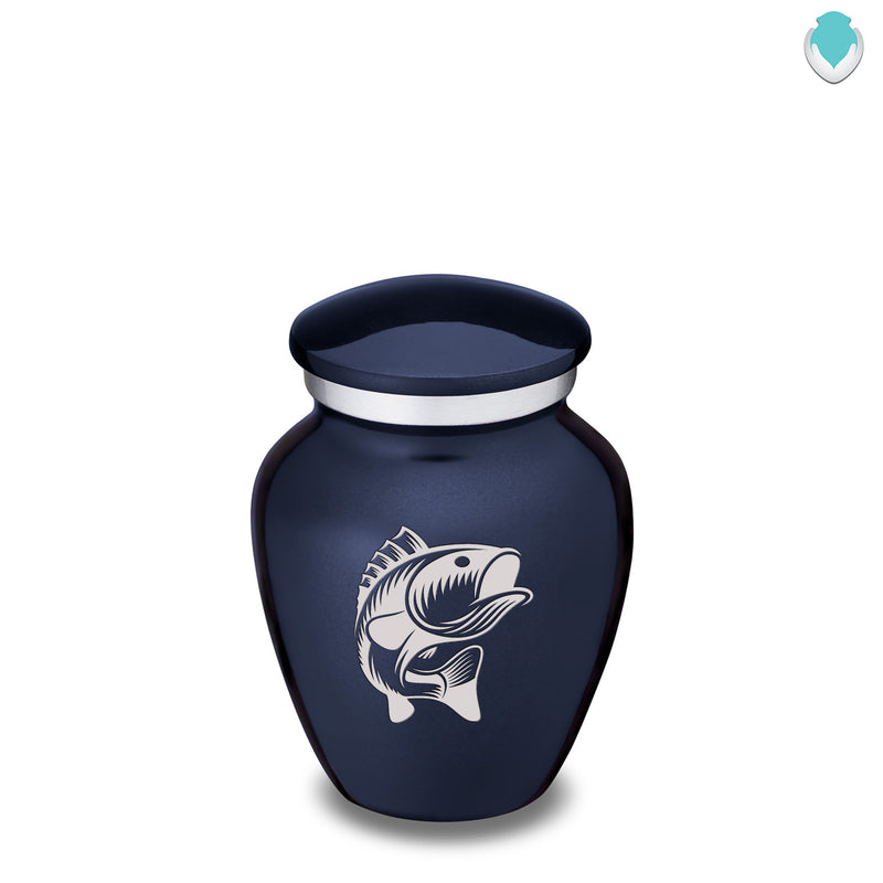 Keepsake Embrace Cobalt Blue Fish Cremation Urn