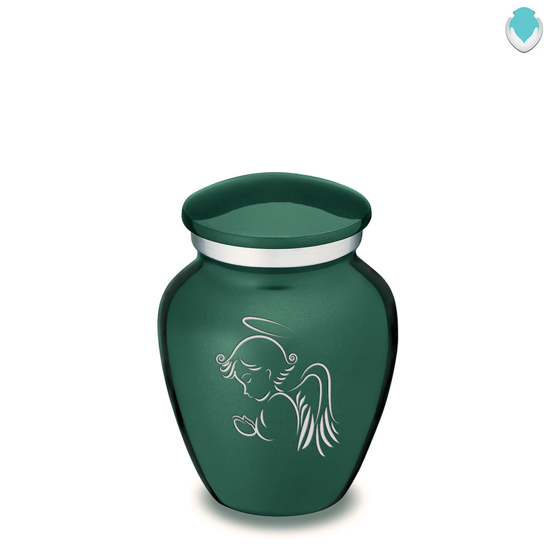 Keepsake Green Embrace Angel Cremation Urn