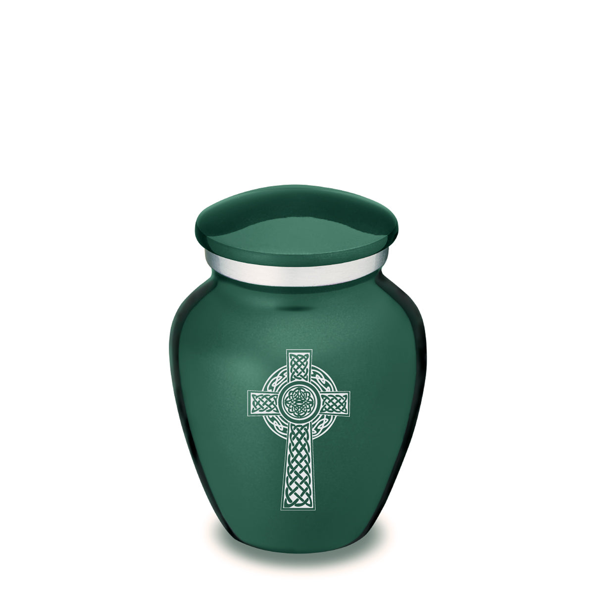 Keepsake Embrace Green Celtic Cross Cremation Urn
