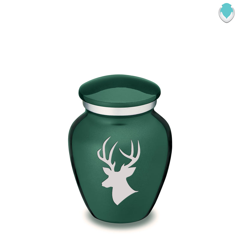 Keepsake Embrace Green Deer Cremation Urn