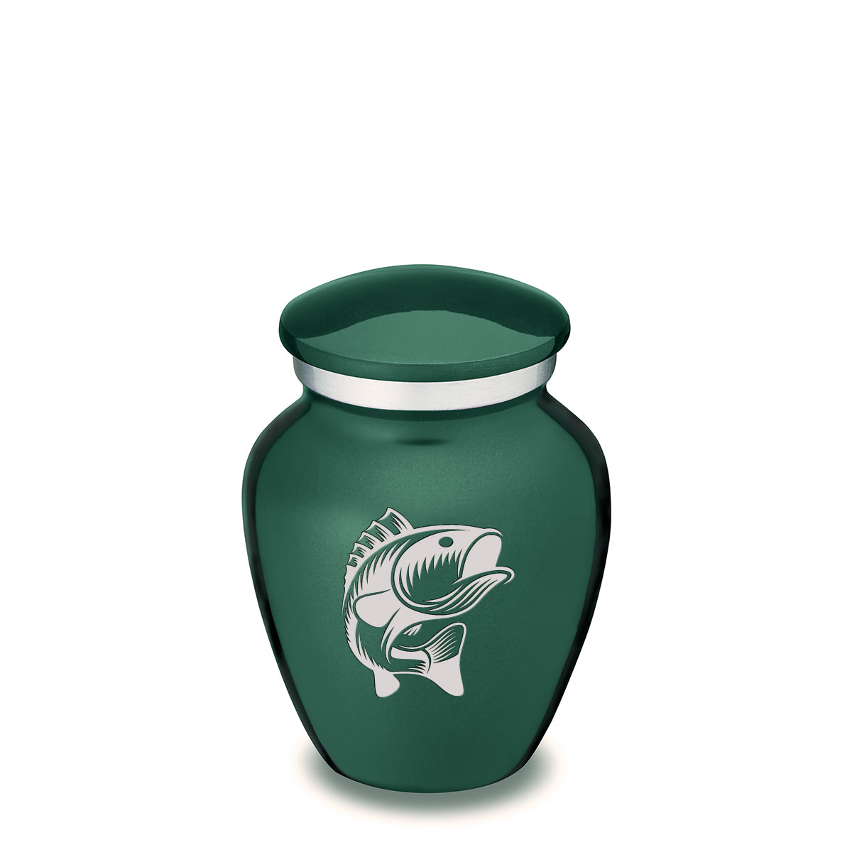 Keepsake Embrace Green Fish Cremation Urn