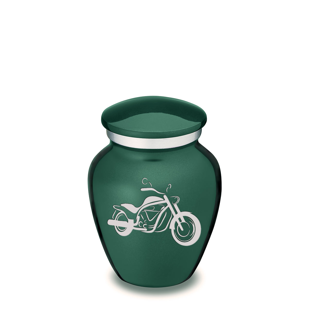 Keepsake Embrace Green Motorcycle Cremation Urn