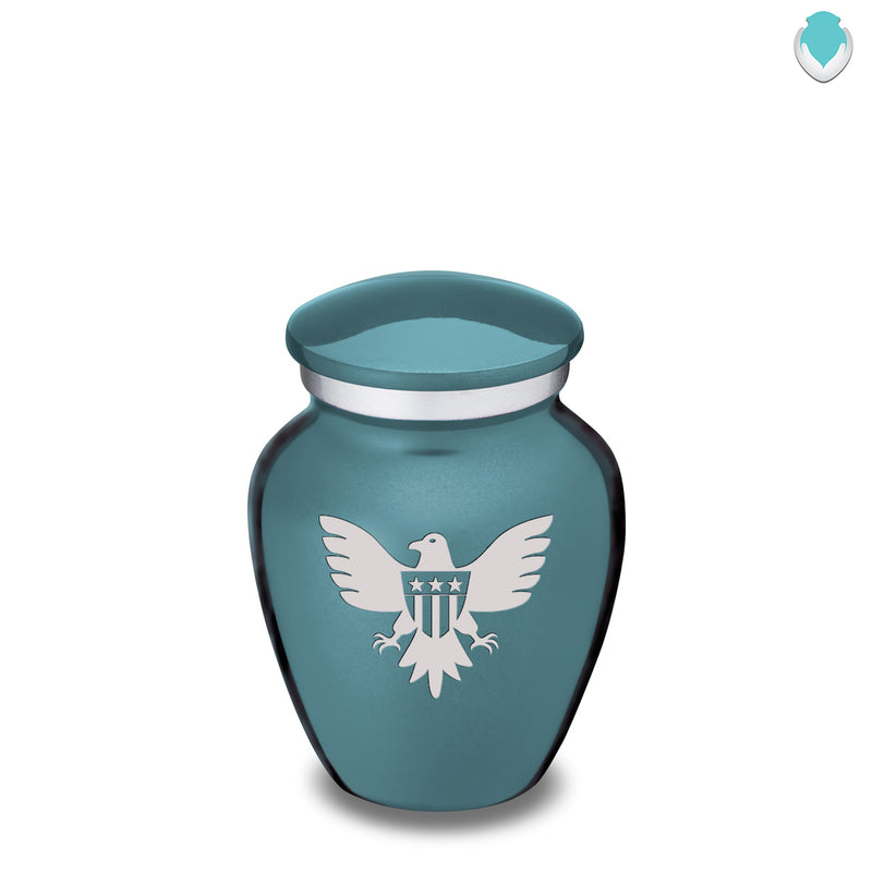 Keepsake Embrace Teal American Glory Cremation Urn