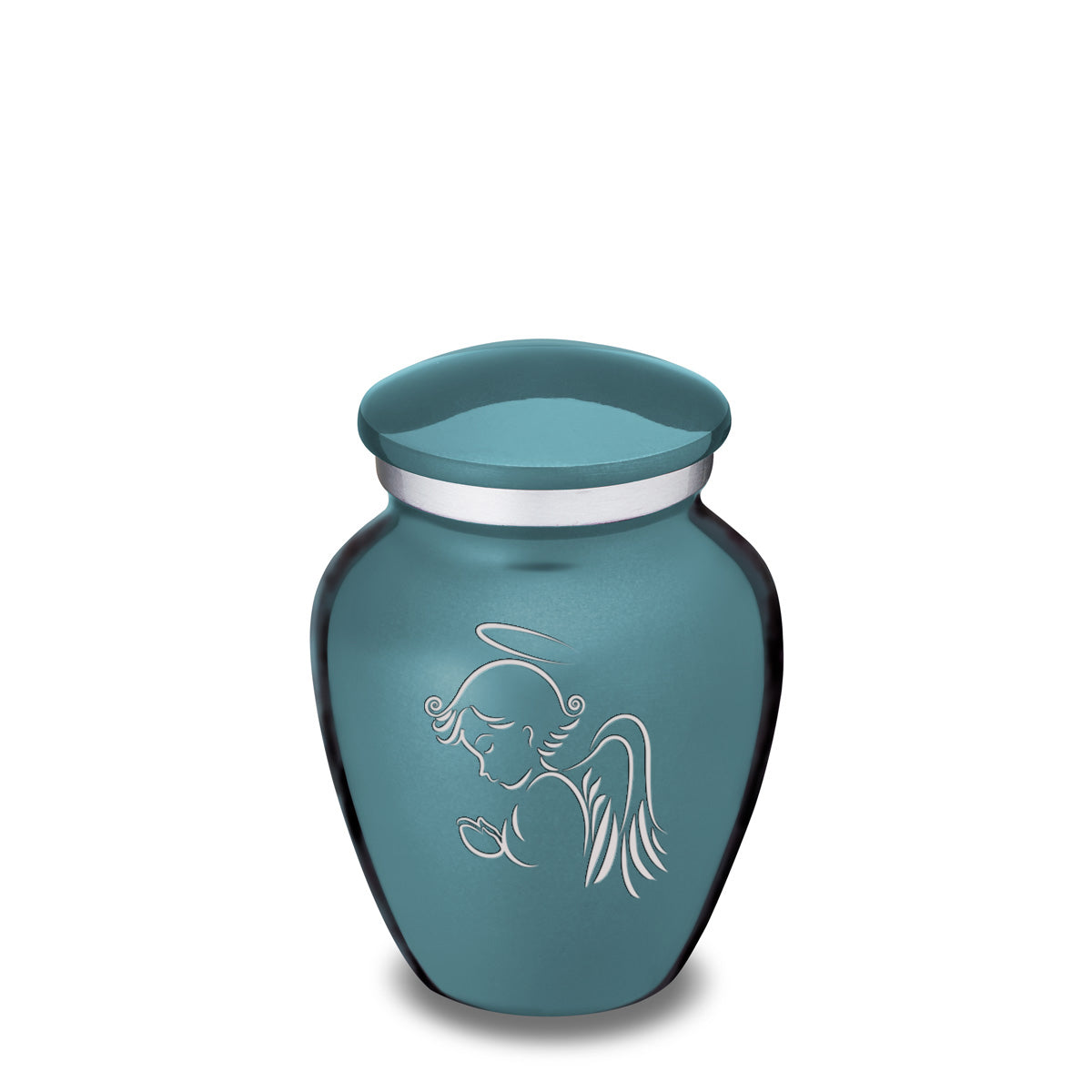 Keepsake Teal Embrace Angel Cremation Urn