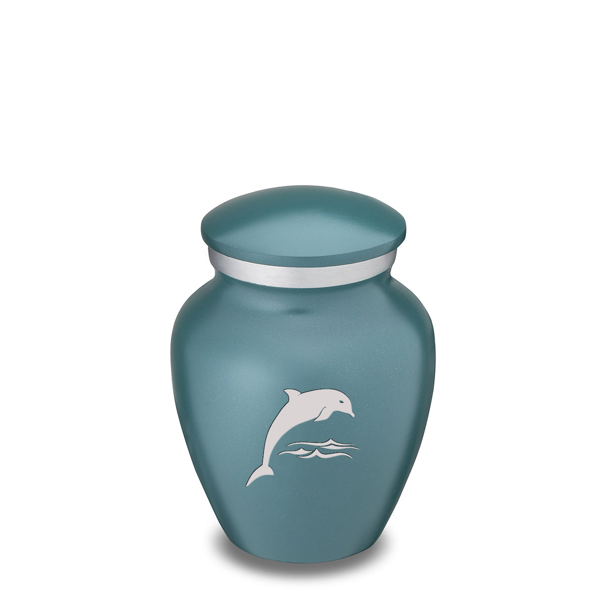 Keepsake Teal Embrace Dolphin Cremation Urn