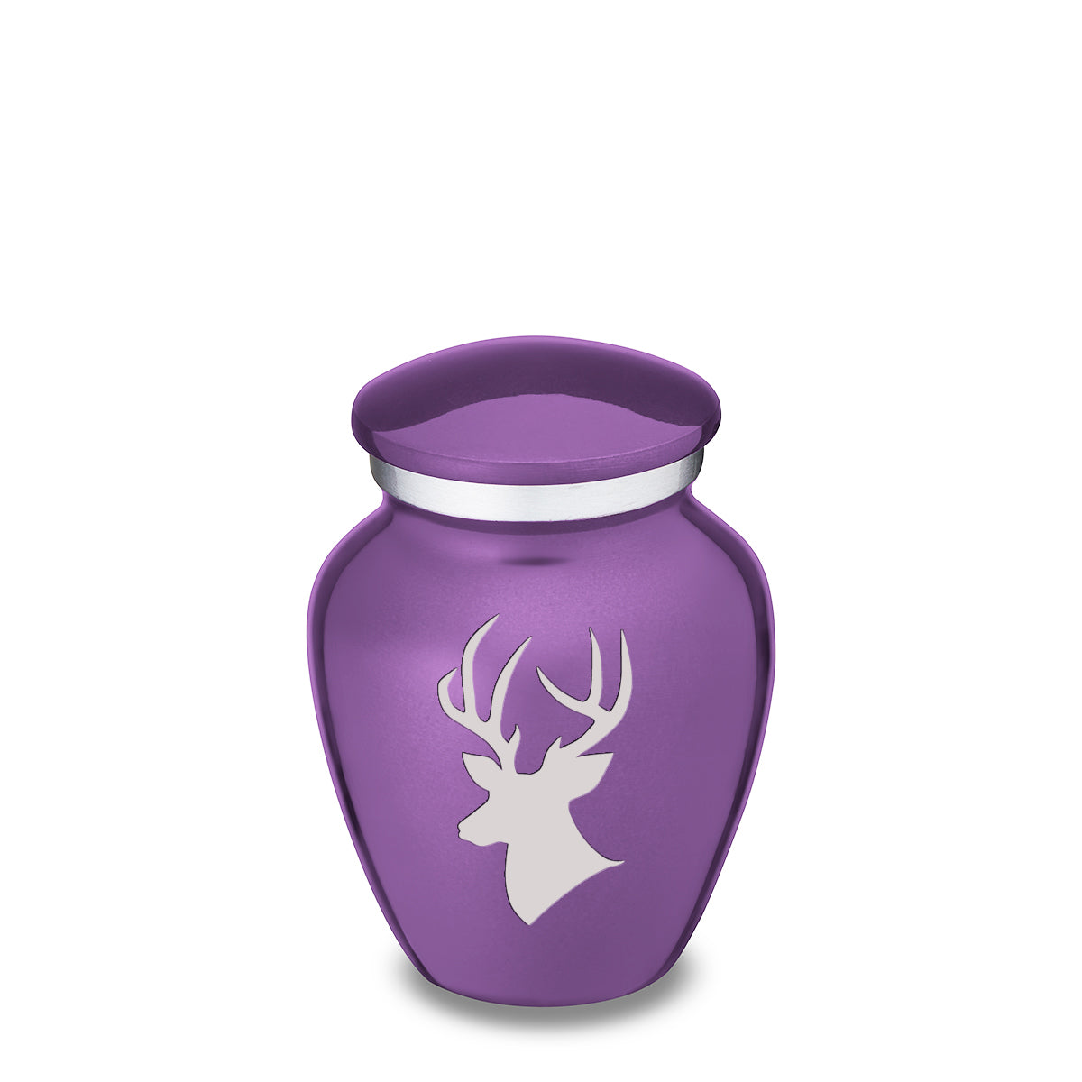 Keepsake Embrace Purple Deer Cremation Urn