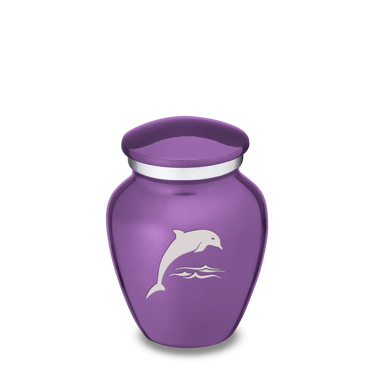 Keepsake Purple Embrace Dolphin Cremation Urn