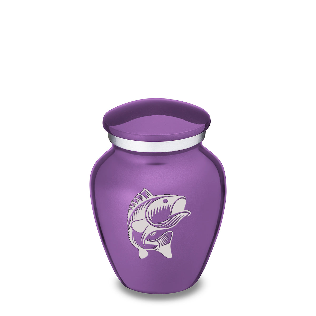Keepsake Embrace Purple Fish Cremation Urn