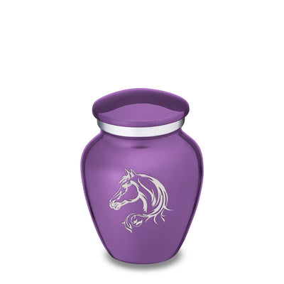 Keepsake Embrace Purple Horse Cremation Urn