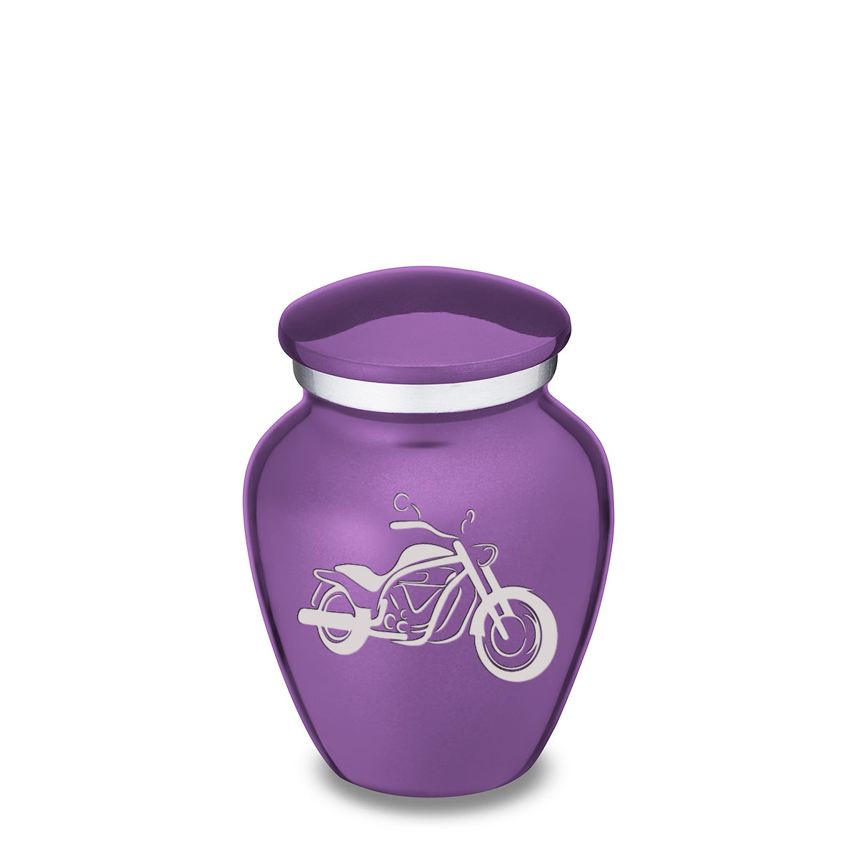 Keepsake Embrace Purple Motorcycle Cremation Urn
