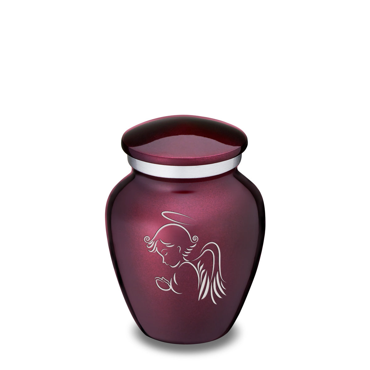 Keepsake Cherry Purple Embrace Angel Cremation Urn